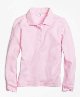 Brooks Brothers Girls Long-Sleeve Polo Shirt