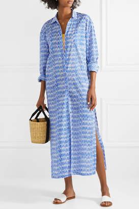 Double Rainbouu - Printed Cotton-voile Maxi Dress - Blue