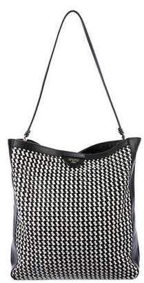 Tory Burch Basketweave Woven Leather Large Tote