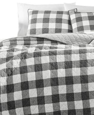 Martha Stewart Box Plaid Reversible Yarn-Dyed Cotton Quilt