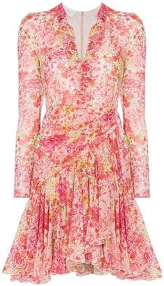 Giambattista Valli Rose print mini dress