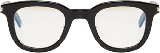 Saint Laurent Black SL 141 Slim Glasses $400 thestylecure.com