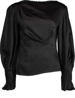 Peter Pilotto Satin Drape Blouse