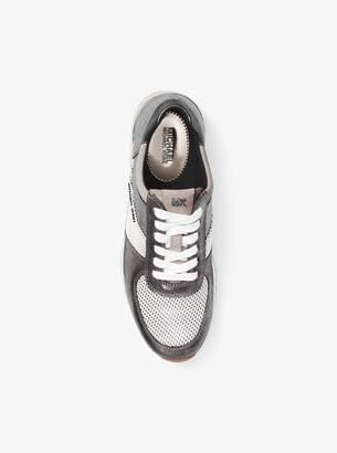 MICHAEL Michael Kors Allie Metallic Leather Sneaker