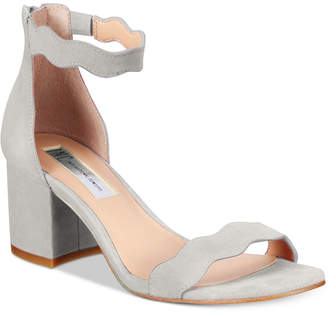 INC International Concepts Hadwin Scallop Block-Heel Sandals, Only at Macy's $79.50 thestylecure.com