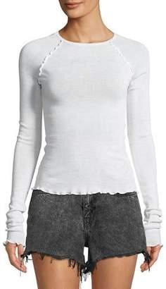 Alexander Wang Wash And Go Knit Long-Sleeve Raglan Top