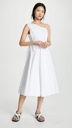 Rosetta Getty One Shoulder Wrap Dress