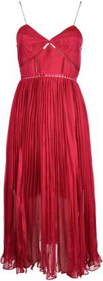 Self-Portrait Self Portrait Pleated Chiffon Midi Cocktail Dress