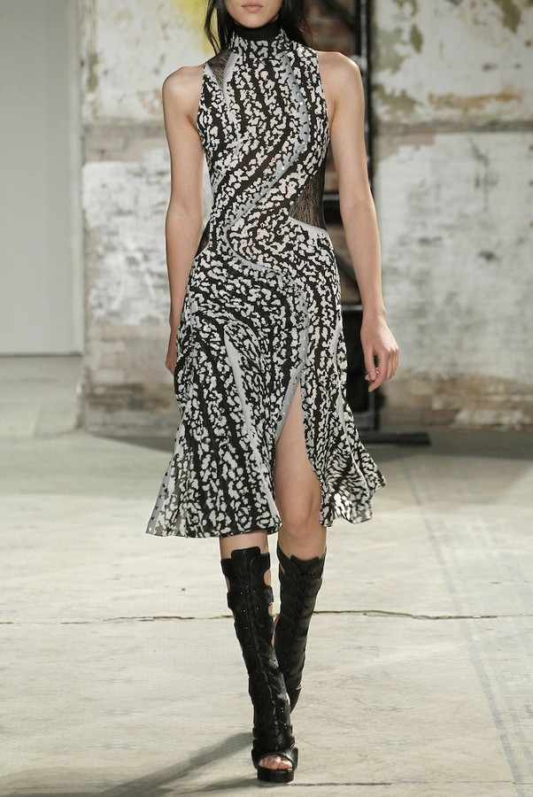 Proenza Schouler Printed Silk Chiffon Dress