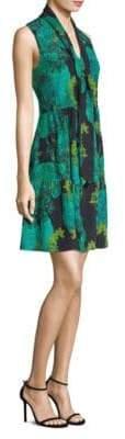 Printed Sleeveless Silk Dress