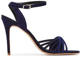 REISS Billie Twisted Suede Ankle Strap Sandals $245 thestylecure.com