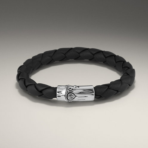 John Hardy BAMBOO COLLECTION Woven Leather Bracelet