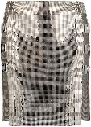 Balmain panelled mini skirt