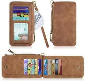 Luxmo Premium Leather Card Wallet,Minimalist ID Credit Card Case RFID Blocking Wallet Sleeve(Brown)