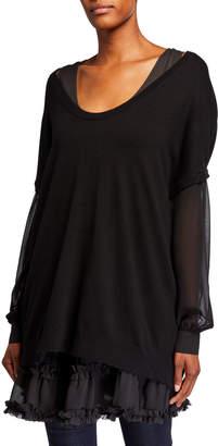 Twin-Set Twinset Knitted Sweater Cami Ruffle-Hem Dress