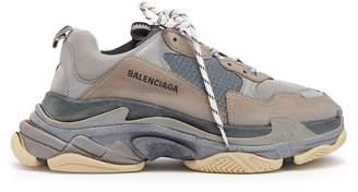 Balenciaga Triple S split-colourway low-top trainers