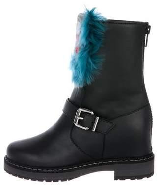 4cc2a01c854 Fendi Caroline Moto Ankle Boots