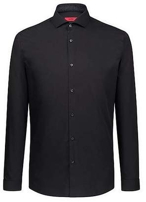 HUGO BOSS Extra-slim-fit easy-iron shirt with spread collar