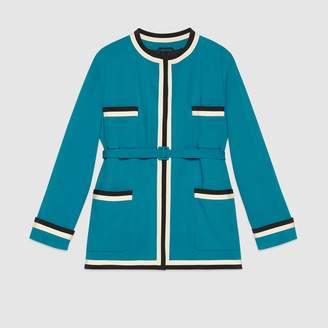 Gucci Stretch viscose oversized jacket