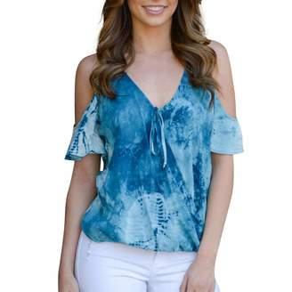 02a0d97c648b6 MURTIAL Women tops MURTIAL Fashion Women T-Shirt Off Shoulder Printed Color  Block Bandage Tops