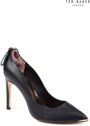 Next Womens Ted Baker Black Leather Livlia Pointed Court