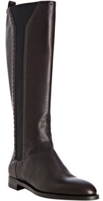 Yves Saint Laurent brown leather 'Hyde' flat boots
