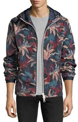 Moncler Floral-Print Wind-Resistant Jacket