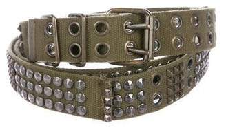 Balmain Studded Canvas Belt