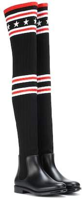 Givenchy Knitted over-the-knee boots
