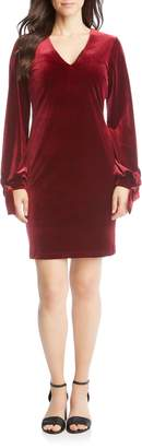 Karen Kane Velvet Tie Sleeve Dress