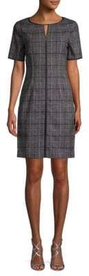 T Tahari Plaid-Print Sheath Dress