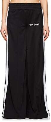 Palm Angels Women's Tech-Jersey Wide-Leg Track Pants