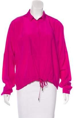 Diane von Furstenberg Oversize Silk Top