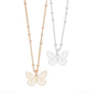 Lauren Conrad Butterfly Pendant Necklace Set