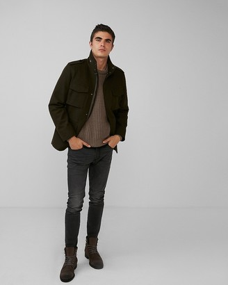 Express Four Pocket Convertible Recycled Wool Coat