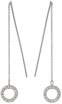 Isabel Marant Silver Long Circle Drop Earrings