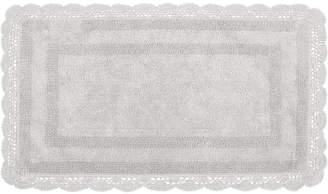 "Laura Ashley Crochet Cotton Reversible 21"" x 34"" Bath Rug Bedding"