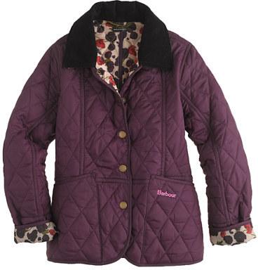 Barbour Girls' printed summer Liddesdale jacket