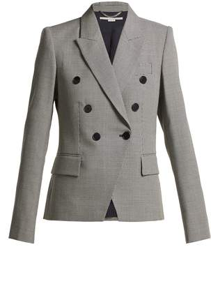 Stella McCartney Double-breasted houndstooth wool jacket