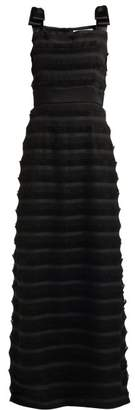 Goat Gertrude Fil Coupe Fringed Dress - Womens - Black