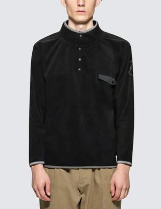 Denim By Vanquish & Fragment Icon Half Snap Fleece Pullover Jacket