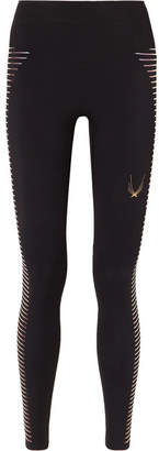 Lucas Hugh Odyssey Mesh-paneled Stretch Leggings - Black