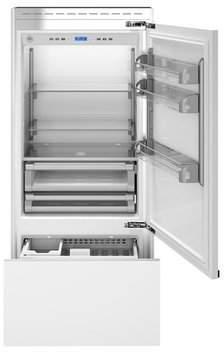 Bertazzoni 17.7 cu. ft. Counter Depth Bottom Freezer Refrigerator Door Swing Orientation: Right