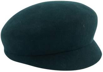 Chanel Green Wool Hats