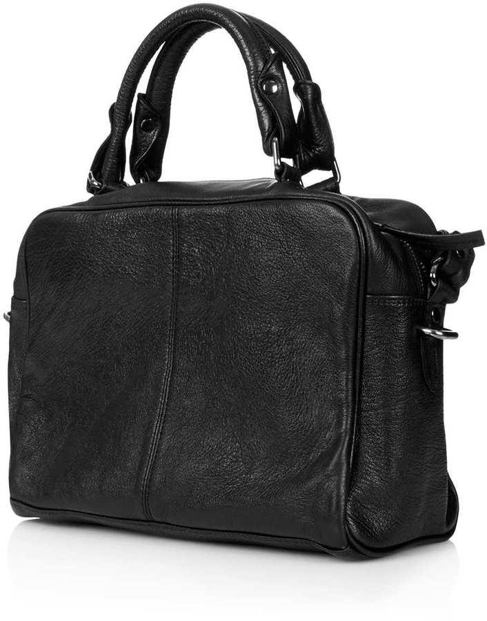 Topshop Medium Leather Holdall Bag