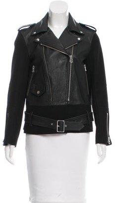 Sandro Leather Moto Jacket $425 thestylecure.com
