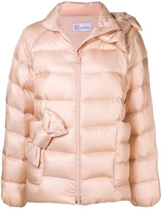RED Valentino bow-detail padded jacket
