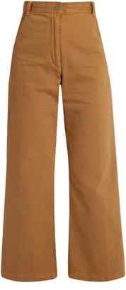 RACHEL COMEY Bishop high-rise wide-leg cotton-blend trousers $345 thestylecure.com