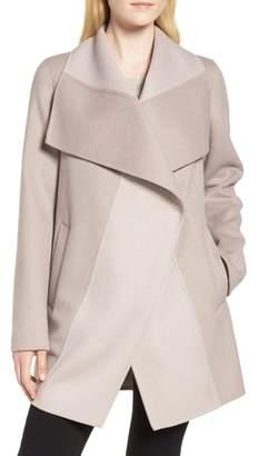 Tahari Nicky Double Face Wool Blend Oversize Coat