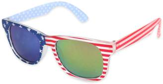 Tiny Treasures American Flag Toddler Sunglasses in Red/Blue